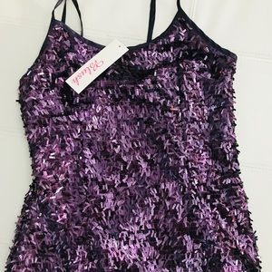 Tops - Plum sequin tank. Great color! NWT